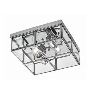 Elegancki plafon Monza - szklany, chrom