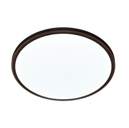 czarny okrągły plafon do łazienki