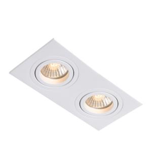 Biała lampa podtynkowa Meris - biała