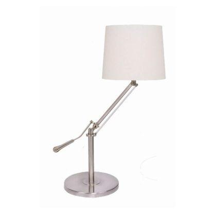 klasyczna lampa biurkowa z abażurem