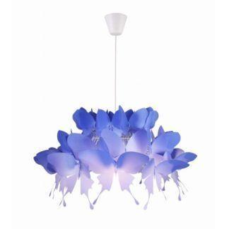 Niebieska lampa wisząca Farfalla - motyle