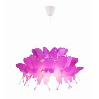Różowa lampa wisząca Farfalla - nowoczesna