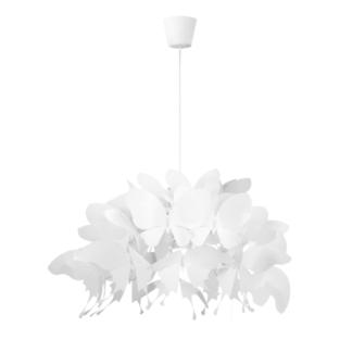 Efektowna lampa wisząca Farfalla - białe motyle