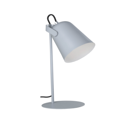 szara lampka na biurko