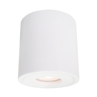 Biała lampa sufitowa Faro - nowoczesna, IP44