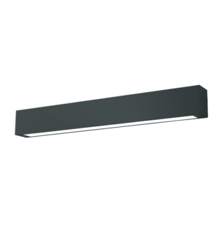 Czarna lampa sufitowa Ibros - LED, IP44