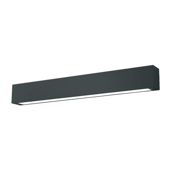 czarna lampa sufitowa LED