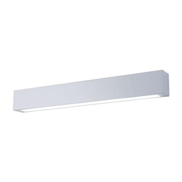 biały nowoczesny kinkiet nad lustro