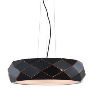 Czarna lampa wisząca Reus - geometryczna, E27
