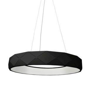 Czarna lampa wisząca Reus - led, geometryczna