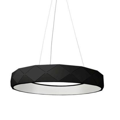 czarna lampa wisząca panel led