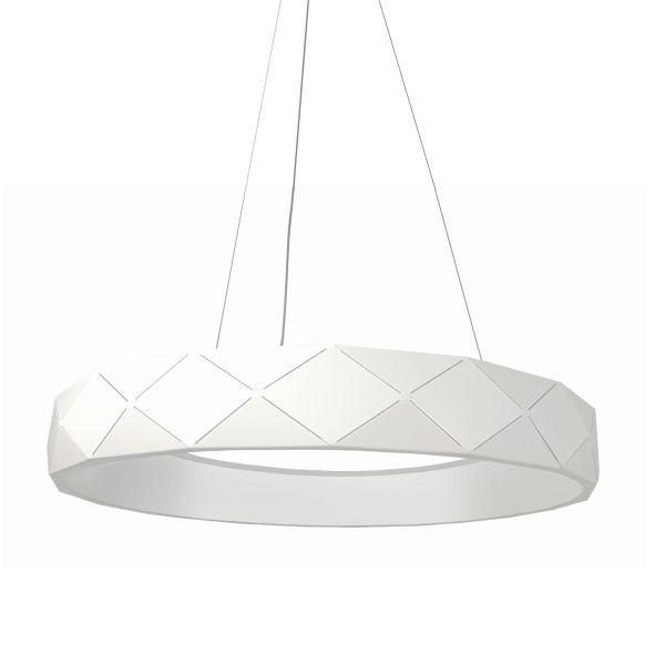 biała lampa w szarym salonie aranżacja