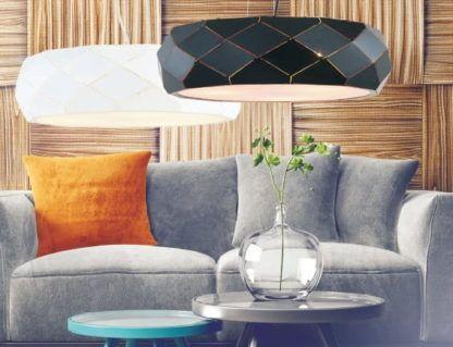 nowoczesne lampy do salonu geometryczne