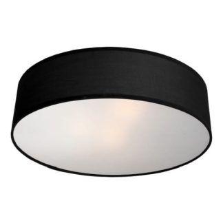 Czarny plafon Alto - z abażurem, okrągły
