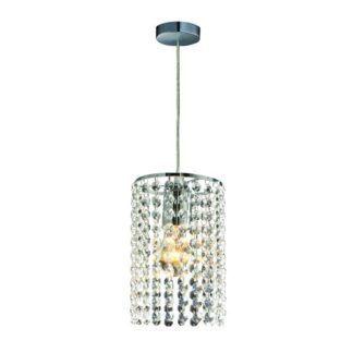 Lampa wisząca Bright Star - srebrna, kryształki