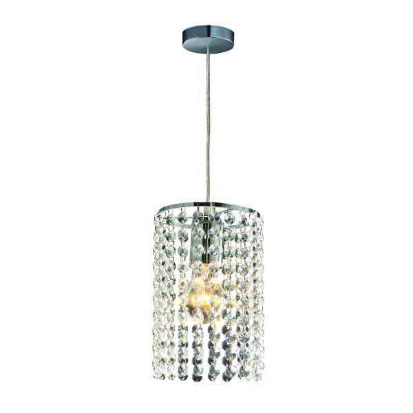 lampa wisząca z kryształkami glamour