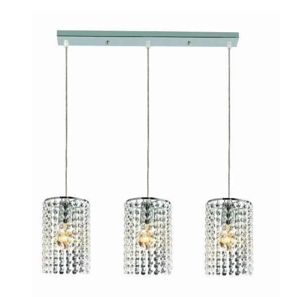 lampa wisząca z kryształkami
