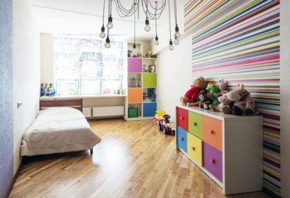żyrandol pająk w pokoju dziecka aranżacja