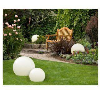 Lampa ogrodowa Gaja M - biała kula