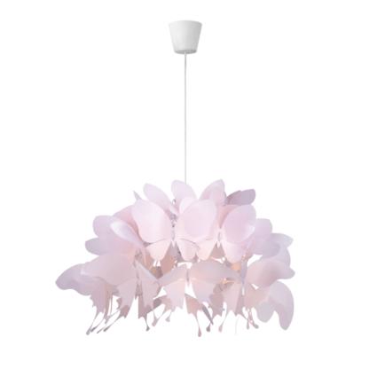 jasnoróżowa lampa wisząca motylki
