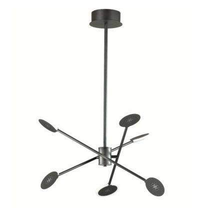 czarna designerska lampa led do salonu