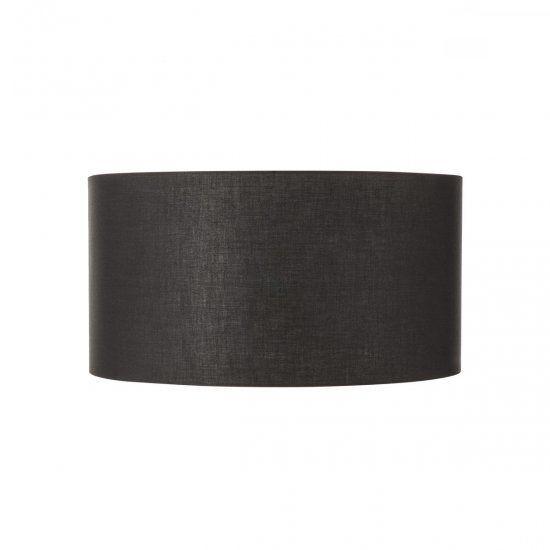Czarny abażur Fenda - tkanina, 70cm