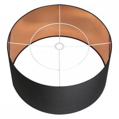 czarno-złoty abażur