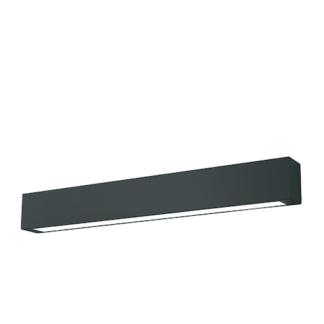Podłużny kinkiet Ibros - czarny, LED, IP44