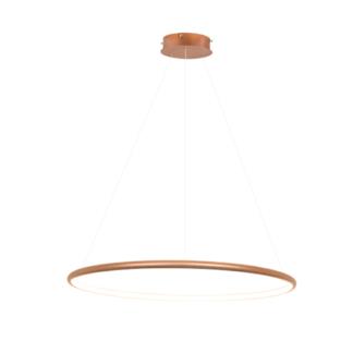 Lampa wisząca Shape - LED, 3000K, 80cm, miedziana, IP44