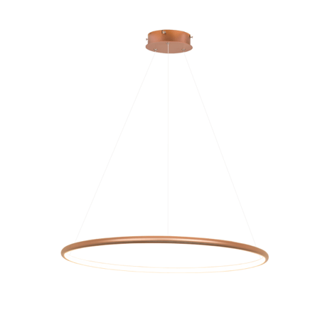 Lampa wisząca Shape - LED, 3000K, miedziana, IP44
