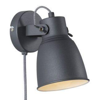 Czarny kinkiet Adrian - Nordlux - industrialny