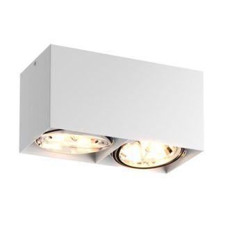Biała lampa sufitowa Box - Zuma Line - dwa źródła światła