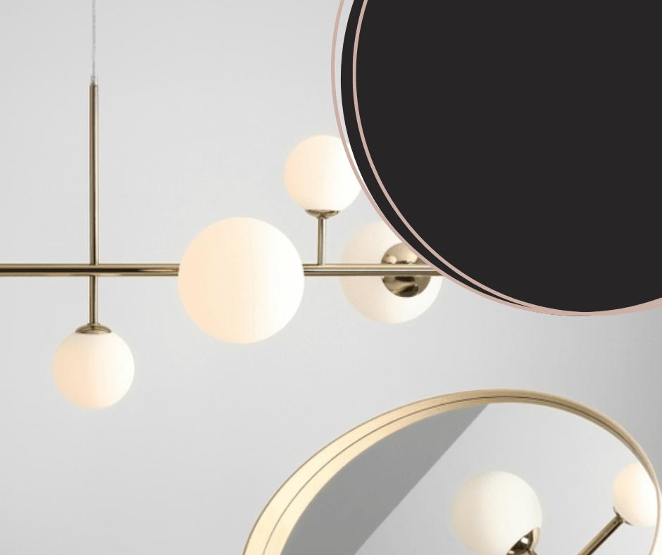 złota lampa balia do nowoczesnego salonu