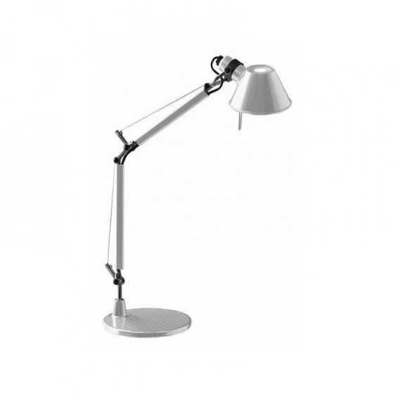 Lampa biurkowa Tolomeo Micro Tavolo - srebrna