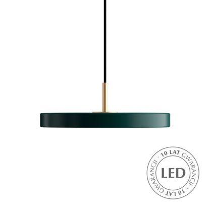 zielona lampa wisząca nad stół