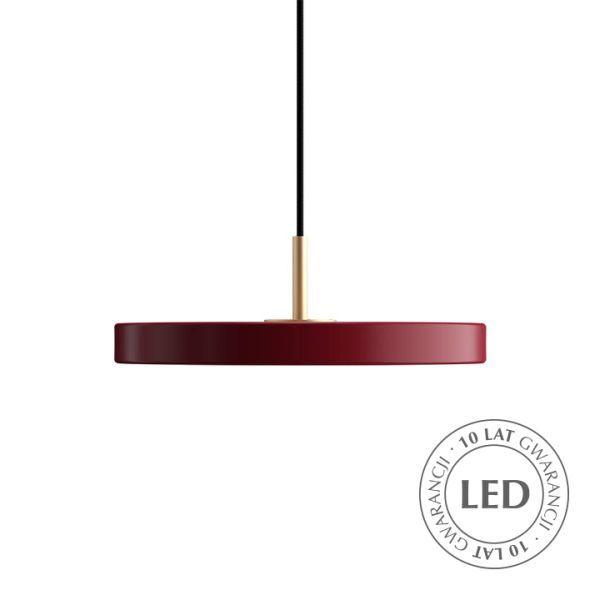 bordowa lampa wisząca nowoczesna