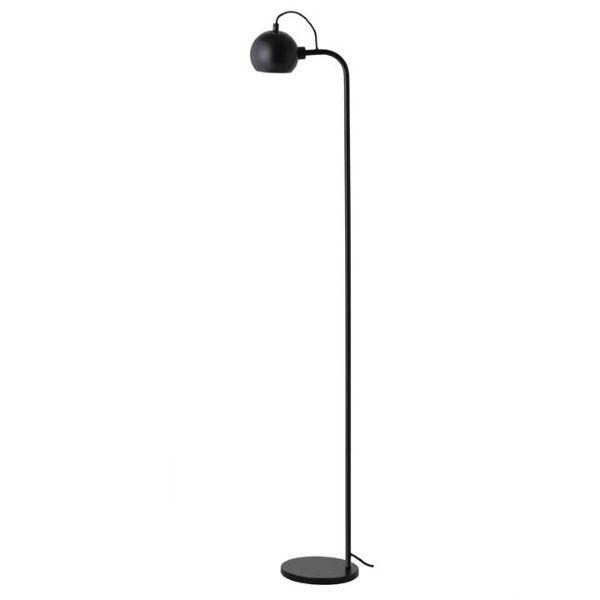 Czarna lampa podłogowa Ball Single - regulowany klosz