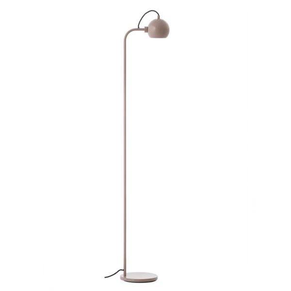 Lampa podłogowa Ball Single - beżowa, połysk