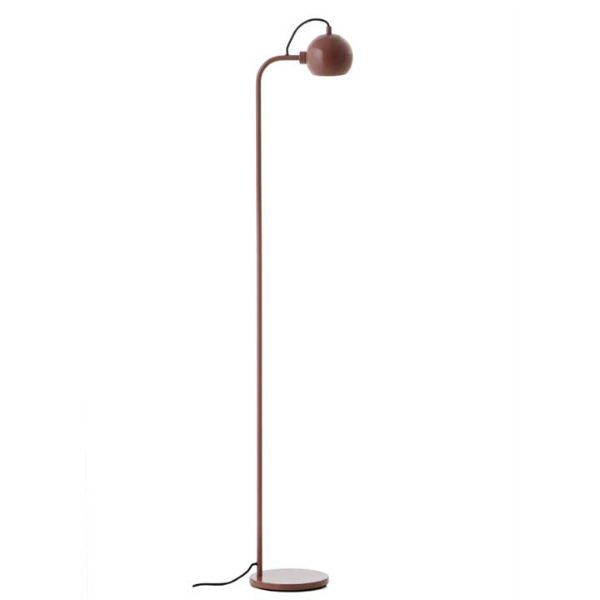 Nowoczesna lampa podłogowa Ball Single - czerwona