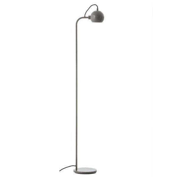 Minimalistyczna lampa podłogowa Ball Single - ciepły szary