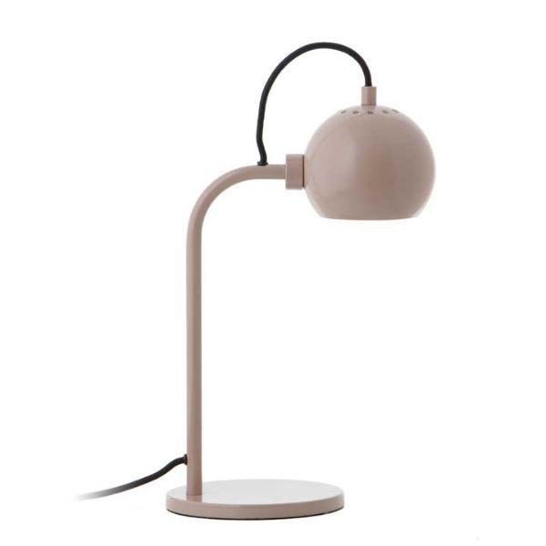 Nowoczesna lampa biurkowa Ball Single - kremowa