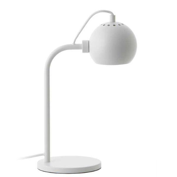 Lampa biurkowa Ball Single - biały mat