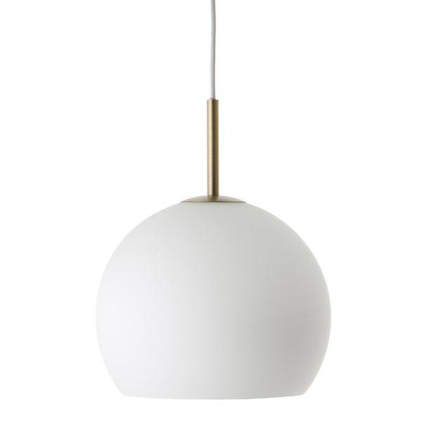 lampa wisząca szklana kula i złoto