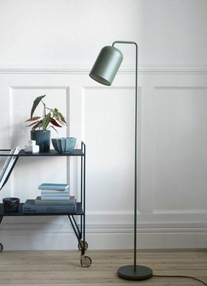 lampa podłogowa do salonu zielona