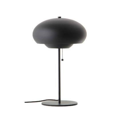 czarna lampa stołowa sznurkowy włącznik