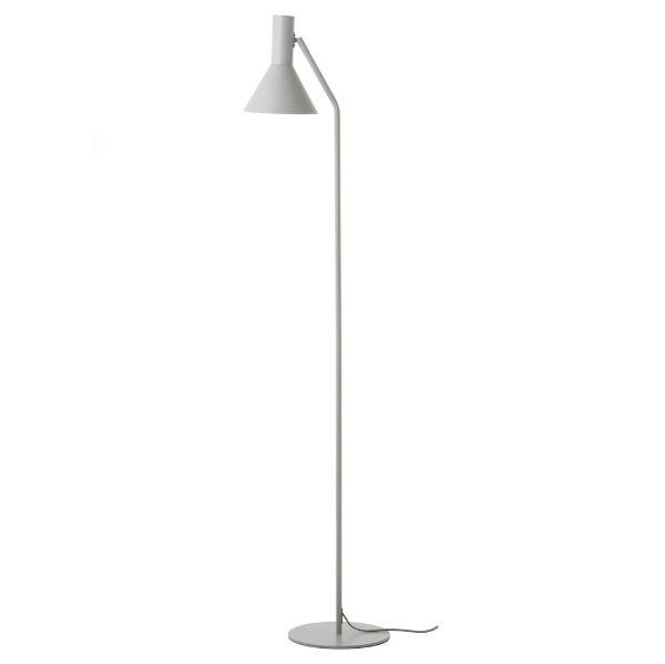 jasnoszara lampa podłogowa skandynawska