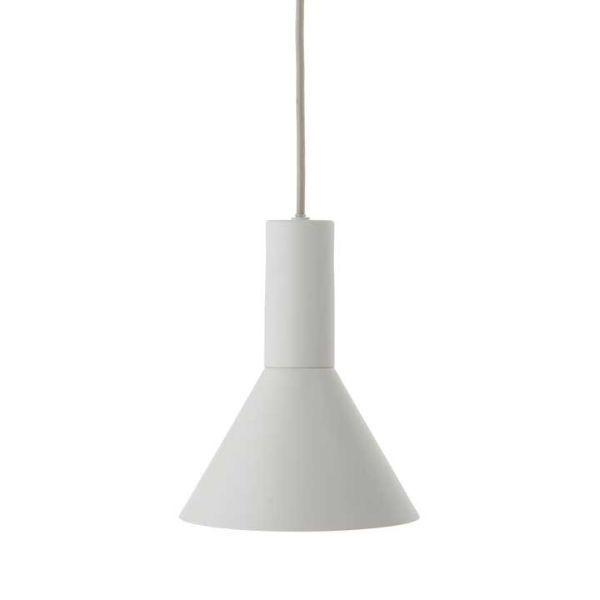 Szara lampa wisząca Lyss - długi przewód