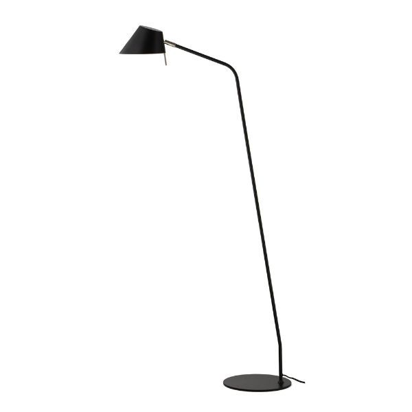 skandynawska lampa podłogowa czarna