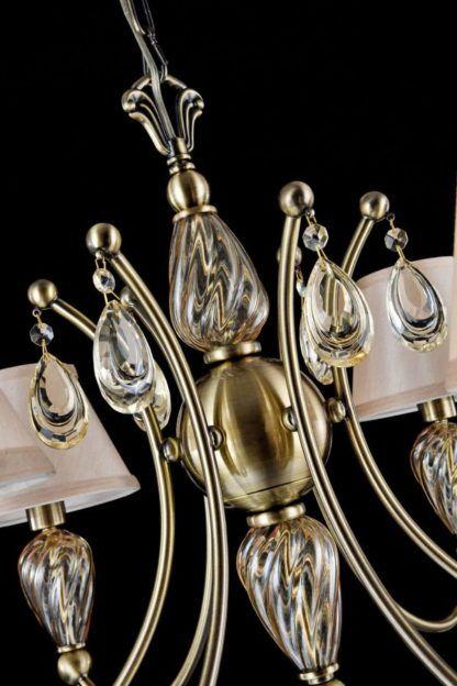elegancki złoty żyrandol klasyczny