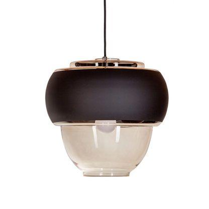 skandynawska lampa wisząca szklana
